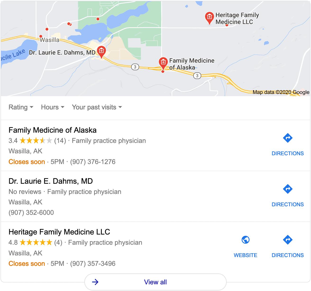 Google Three Pack Example
